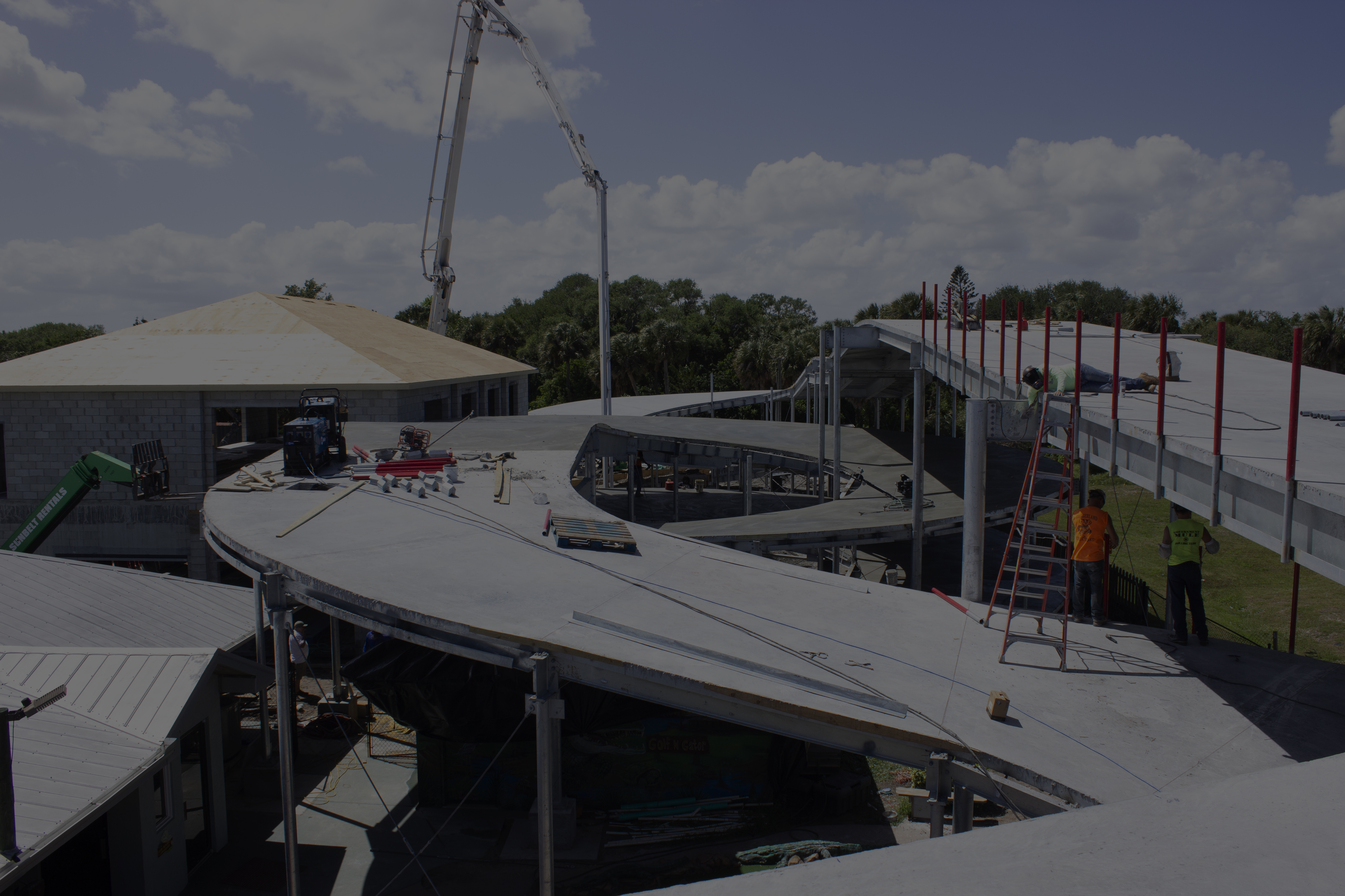 nearly complete construction for Cocoa Beach racing go kart track