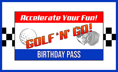 Golf N Go Birthday pass